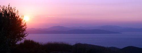 kea  greece  sunset