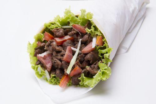 kebabas,sumuštinis,kiauliena,maistas,greitai,maistas,pietūs,mėsa,pomidoras,daržovių,mėsainis,graikų kalba,Arabas,mesainis