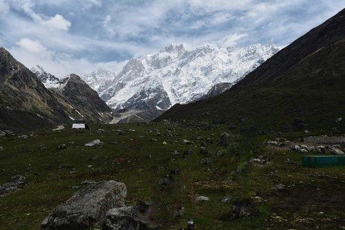kedarnath  mountains  uttarakhand