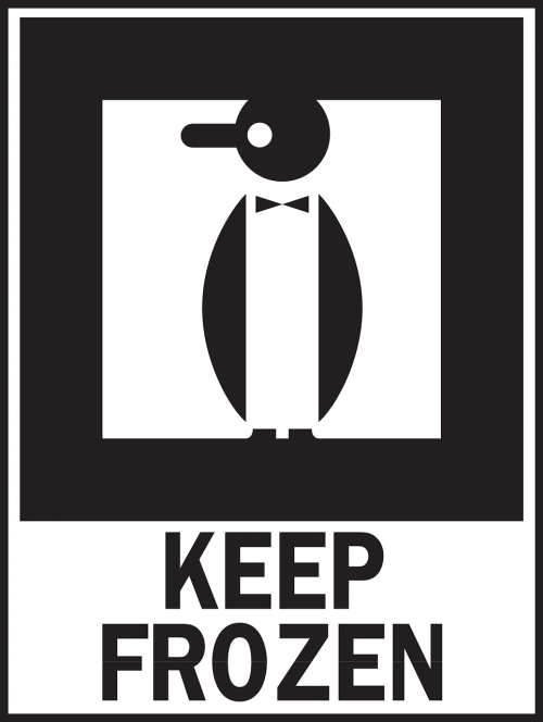 keep frozen warning