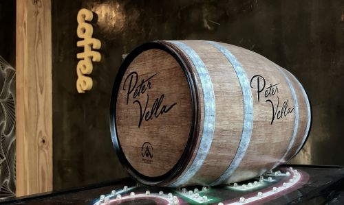 keg oak coffee shop wine buckets