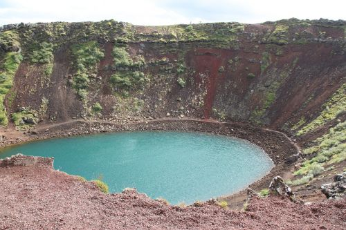 kerid crater crater lake iceland