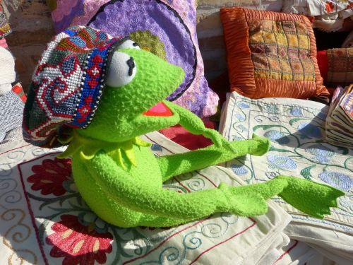 kermit frog cap