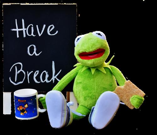 kermit cup drink coffee