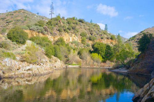 Kalifornija, ramus, kanjonas, srautas, miškas, Kernas & nbsp, upė, Kernville, nacionalinis & nbsp, parkas, sekvija, slėnis, vanduo, Kerno upės slėnis, Kalifornija