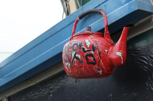 kettle  red  sake kettle