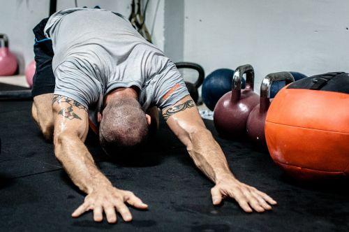 kettlebell stretching fitness