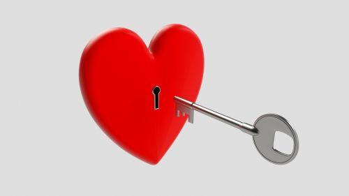 key heart love