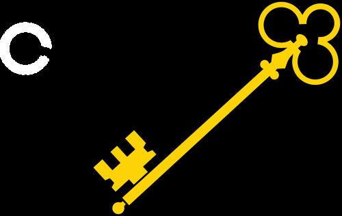 key golden lock