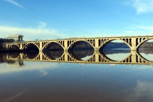 key bridge potomac reflection