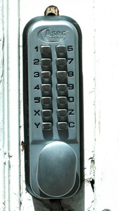 Key Pad Door Lock Entry