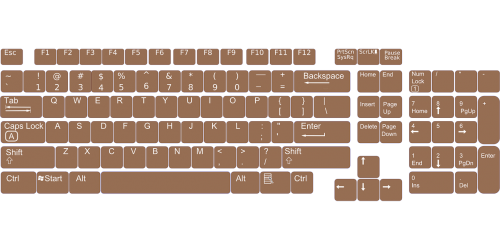 keyboard layout keys