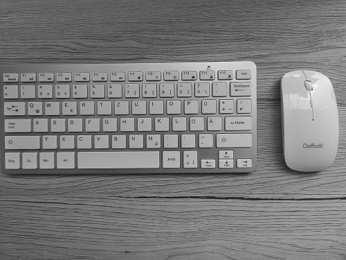keyboard mouse desk