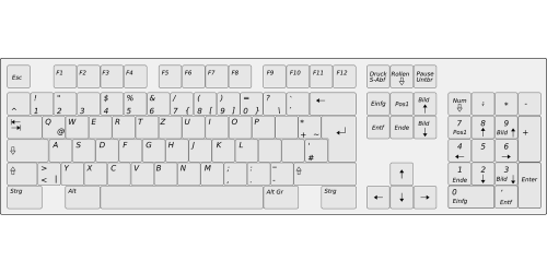 keyboard hardware layout