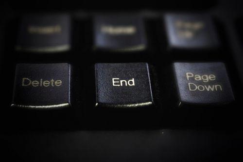keyboard black button