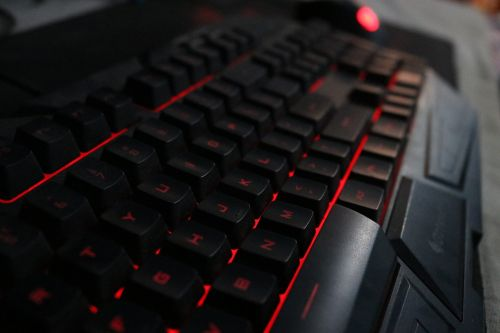 keyboard red cooler master