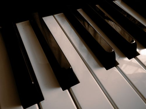 keyboard piano keys musical notes