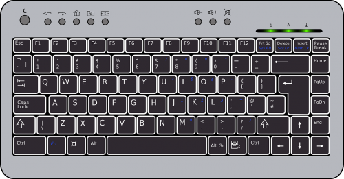 keyboard black compact