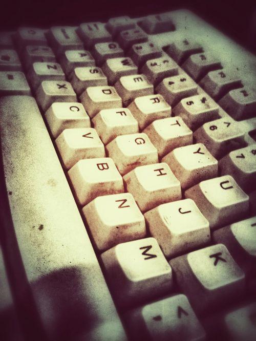 keyboard grunge antique