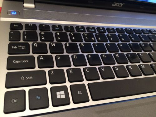 keyboard qwerty laptop