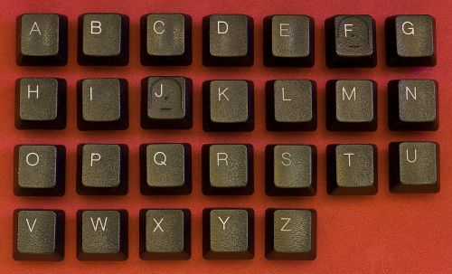 keyboard abc alphabet