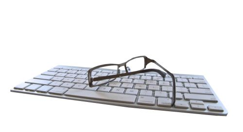 keyboard glasses cut out