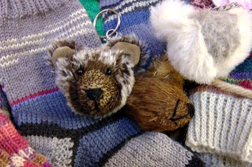 keychain bear soft toy