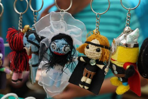 keychain figures colorful