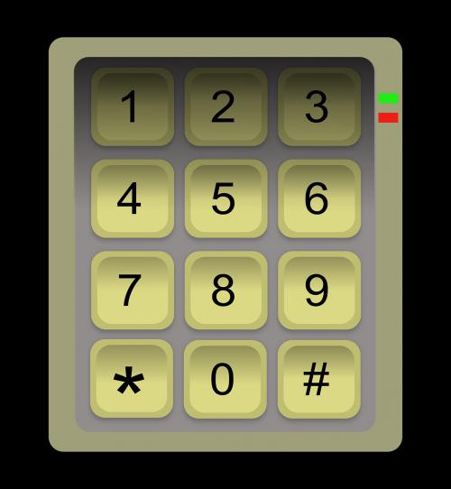 keypad numbers keyboard