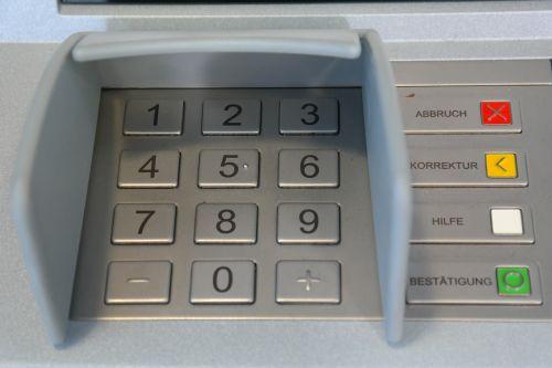 keypad number field atm