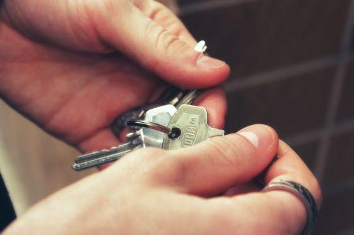 keys hands house