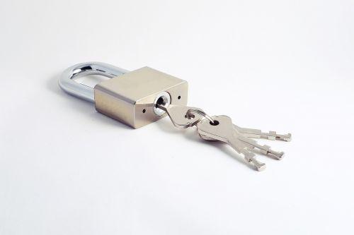 keys padlock security