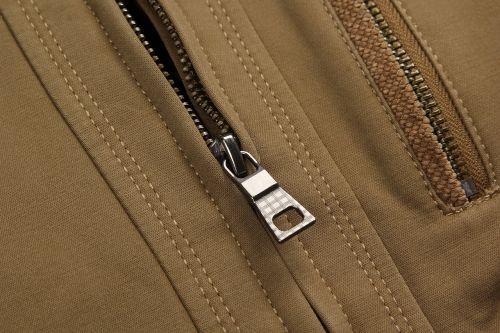khaki jacket zip