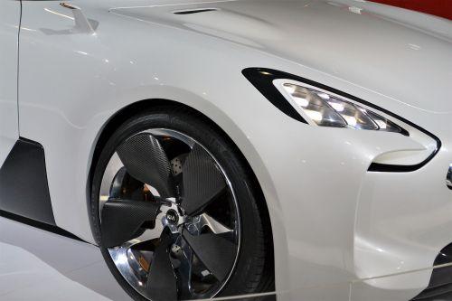 kia car white car wheels