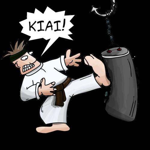 kiai karate blow