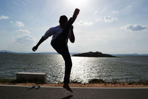 kick martial arts warrior