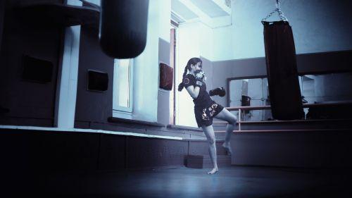 kickboxer girl kickboxing