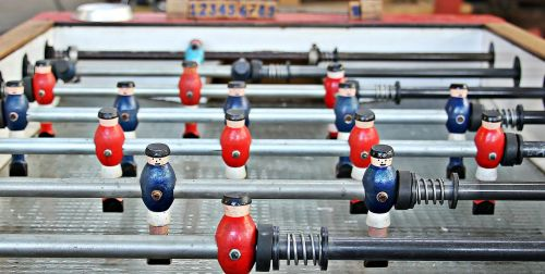 kicker table football foosball table