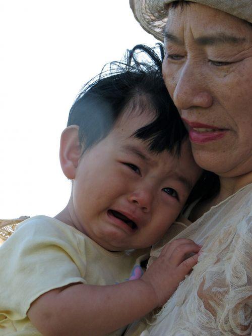 kids cry grandson