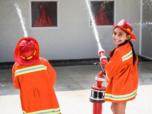 kids firefighters amusement park
