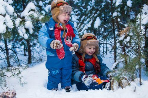 kids winter snow