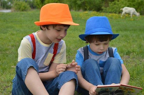 kids  meadow  field