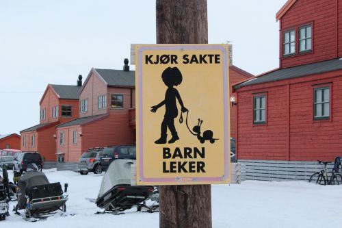 kids security road sign