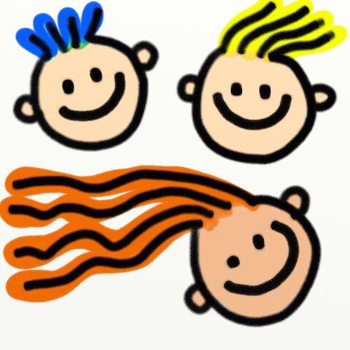 Kids Faces Clipart
