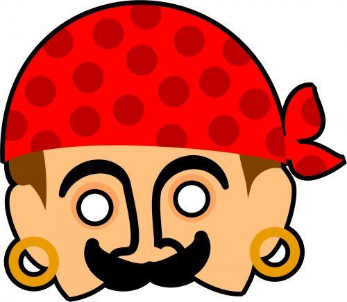 Kids Pirate Mask Clipart