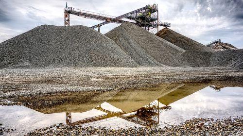 kieswerk open pit mining raw materials
