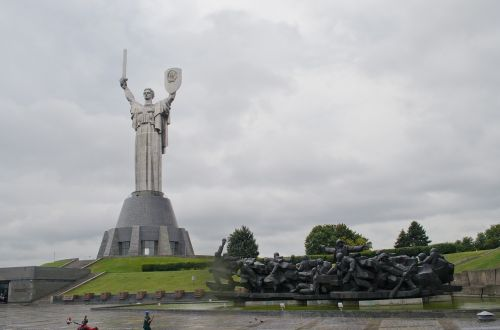 kiev ukraine motherland monument