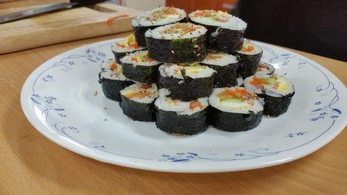 kim ryžiai,maisto fotografija,korėjiečių maistas,leidimas,sushi,pietauti,rengia