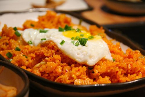 kimchi fried rice fried rice rice