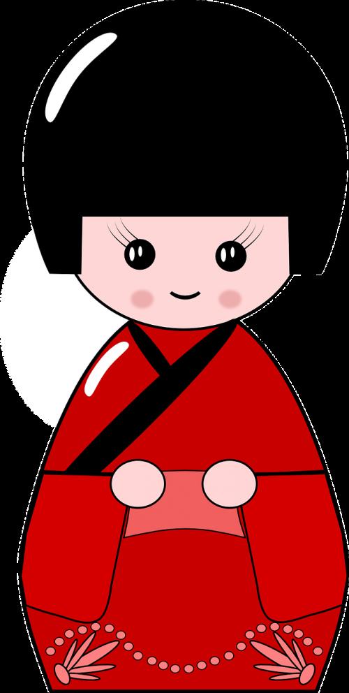 kimono doll japan